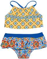 Floatimini Spanish Tile Crop Bikini Set