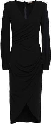 Michael Kors Wrap-effect Stretch-crepe Dress