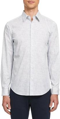 Theory Irving Thordon Print Button-Up Shirt