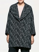 Calvin Klein Platinum Wool Jacquard Easy Coat