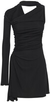 Thumbnail for your product : Thierry Mugler One Sleeve Crepe Jersey Mini Dress
