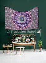 Trade Star Exports Indian Mandala Tapestry, Bohemian Bedding Twin, Elephant Dorm Room Decorations, Urban Wall Hanging, Hippie Picnic Throw, Boho Beach Blanket