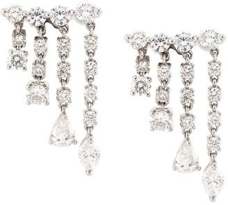 Anita Ko 18kt White Gold Small Rain Drop Diamond Earrings