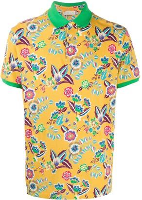 Etro Floral Print Polo Shirt