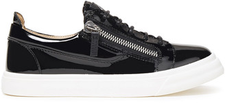 Giuseppe Zanotti Zip-detailed Patent-leather Sneakers