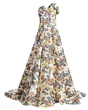 Oscar de la Renta Women's Strapless Floral Ball Gown