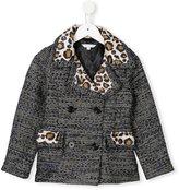 Little Marc Jacobs jacquard coat - kids - Polyester/Acrylic/Polyamide/Wool - 5 yrs