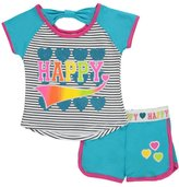 """Real Love Little Girls' Toddler """"Happy Stripes"""" 2-Piece Outfit"""