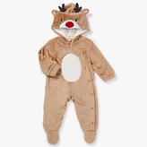 John Lewis Dress Up Reindeer Onesie, Brown