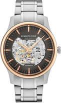 Kenneth Cole New York Men's Automatic Skeleton Stainless Steel Bracelet Watch 42mm KC15110001