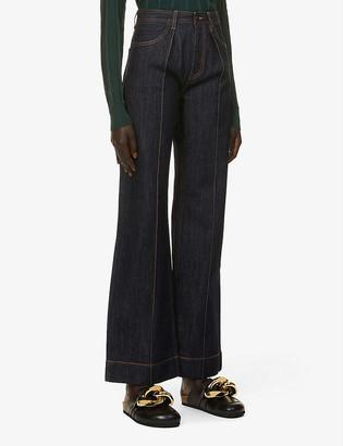 Ports 1961 Wide-leg high-rise jeans