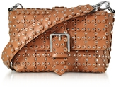 RED Valentino Studded Leather Flap Top Shoulder Bag