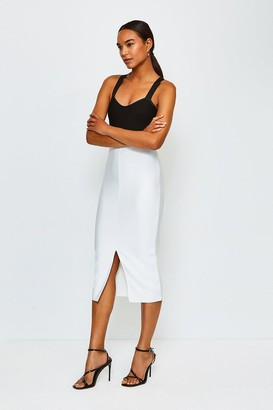 Karen Millen Bandage Knit Colourblock Dress