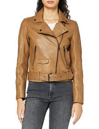 HUGO BOSS Women's Jareca Leather Jacket