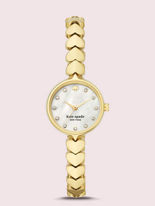 Kate Spade Hollis Gold-Tone Stainless Steel Hearts Watch