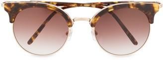 Matsuda Half-Frame Tortoiseshell Sunglasses