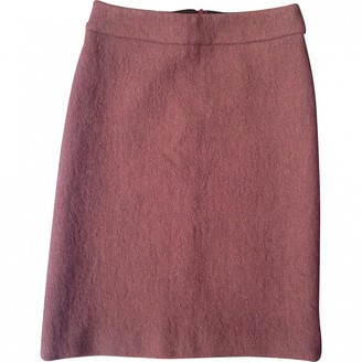 Dries Van Noten Burgundy Wool Skirts
