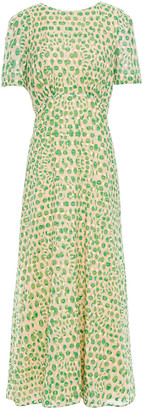 Paul & Joe Fil Coupe Printed Cotton-gauze Midi Dress