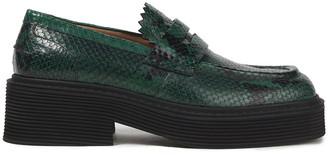 Marni Snake-effect Leather Platform Loafers