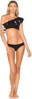 Lisa Marie Fernandez Arden Double Ruffle Bikini Set