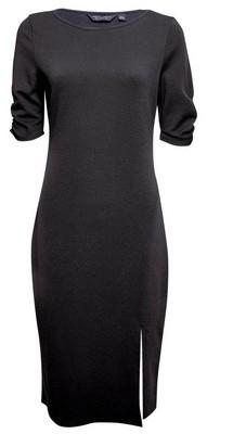 Dorothy Perkins Womens Black Side Split Bodycon Dress, Black