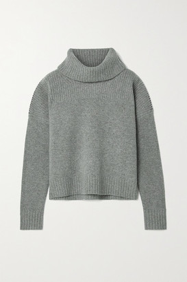Jason Wu Ribbed Wool Turtleneck Sweater - Gray