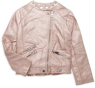 Urban Republic Girl's Faux Leather Moto Jacket