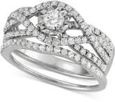 Macy's Diamond Weave Bridal Set (1-1/7 ct. t.w.) in 14k White Gold