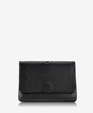 GiGi New York Elisa Clutch In Black Embossed Python