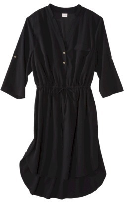 Merona Women's Plus-Size 3/4-Sleeve Dress - Black