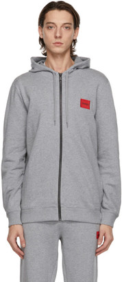 HUGO BOSS Grey Zip-Through Hoodie