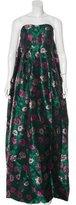 Erdem Floral Jacquard Gown