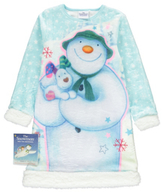George The Snowman and The Snowdog Fleece Nightdress with Book