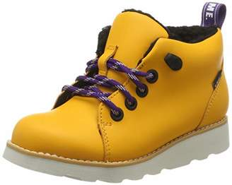 Clarks Boys' Crown Tor K Classic Boots, Yellow (Yellow Leather Yellow Leather)