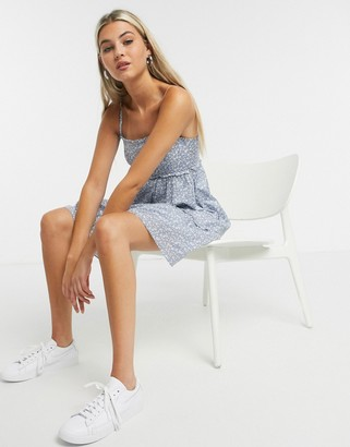 And other stories & floral print cami mini dress in blue