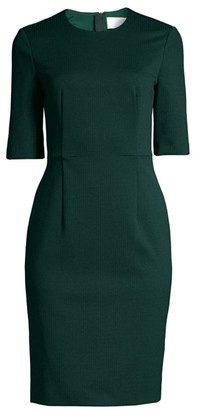 HUGO BOSS Daxine Structured Jersey Houndstooth Sheath Dress