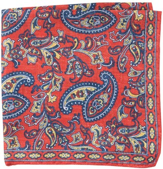 T.M.Lewin Silk Textured Paisley Pocket Square