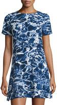 MICHAEL Michael Kors Short-Sleeve Ceremony Dress, Real Navy