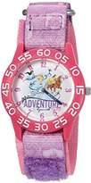 Disney Girl's 'Cinderella' Quartz Plastic and Nylon Automatic Watch, Color:Purple (Model: W002954)