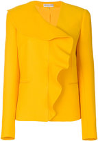 Emilio Pucci frill-embroidered blazer - women - Silk/Wool - 38