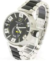 Louis Vuitton Tambour Stainless Steel Black Power Reserve Mens Watch