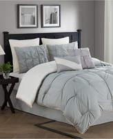 Jessica Sanders CLOSEOUT! Kiss Pleats Reversible 8-Piece Queen Comforter Set