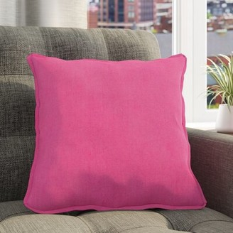 """Hathaway Linen Throw Pillow Cover Rosecliff Heights Size: 22"""" H x 22"""" W x 4.5"""" D, Color: Taupe"""