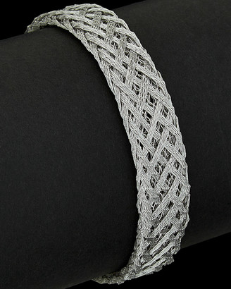 Italian Silver Woven Bracelet