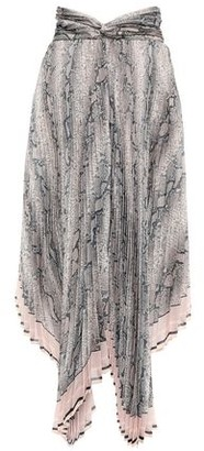Zimmermann Asymmetric Twist-front Pleated Printed Organza Skirt