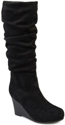 Journee Collection Haze Wide Calf Wedge Boot
