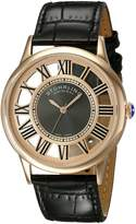 Stuhrling Original Men's 890G.03 Symphony Analog Display Swiss Quartz Black Watch