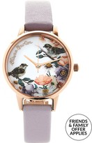 Olivia Burton Flower Show Floral Print Midi Dial Watch