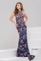 Jovani Floral Trumpet Long Dress 50655