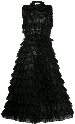 Comme des Garcons Tulle Tiered Flared Dress